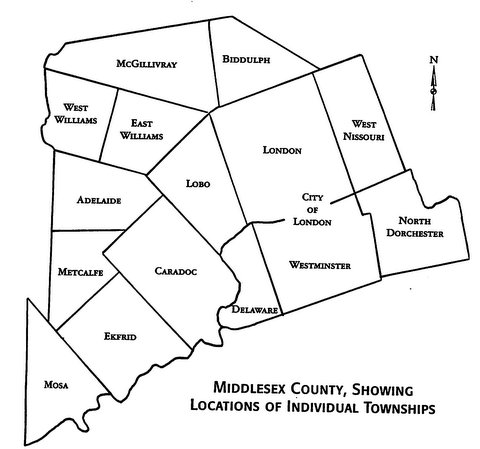 Map of Historic Middlesex County